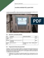 Control de una planta mediante PLC y panel táctil