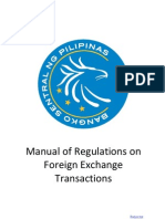 Manual for Regulation for Foreign Exchange Transactions