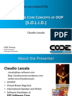 Claudio Lassala Beyond the Core Concepts of OOP SOLID