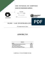 Relatório - Adsorção - FEQ EQ801 - UNICAMP - Grupo 2 - Final