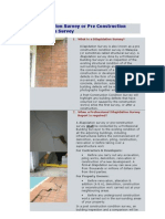 Dilapidation Survey or Pre Construction Condition Survey