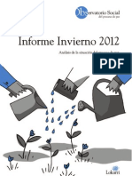 Informe de Invierno de 2012 del Observatorio Social del Proceso de Paz