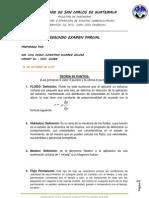 Examen Parcial No. 2 Proyectos Hidroelectricos