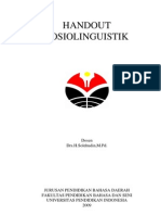 Handout Sosiolinguistik