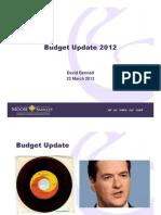 Budget 2012 Update Presentation