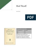 Heal Thyself  by Dr. Edward Bach 1931
