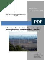 Industrie éolienne dans le monde Extraits