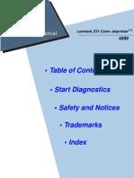 Lexmark Z-31 Color Jet Printer Service Manual