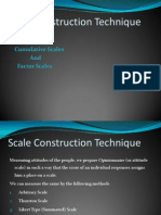 Scale Construction Technique
