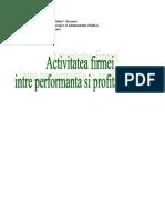 Activitatea Firmei - Intre Per for Manta Si ate