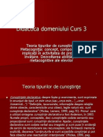 Didactica Domeniului Curs 3