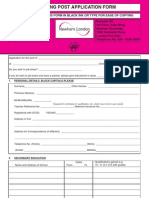 Teaching Application Form