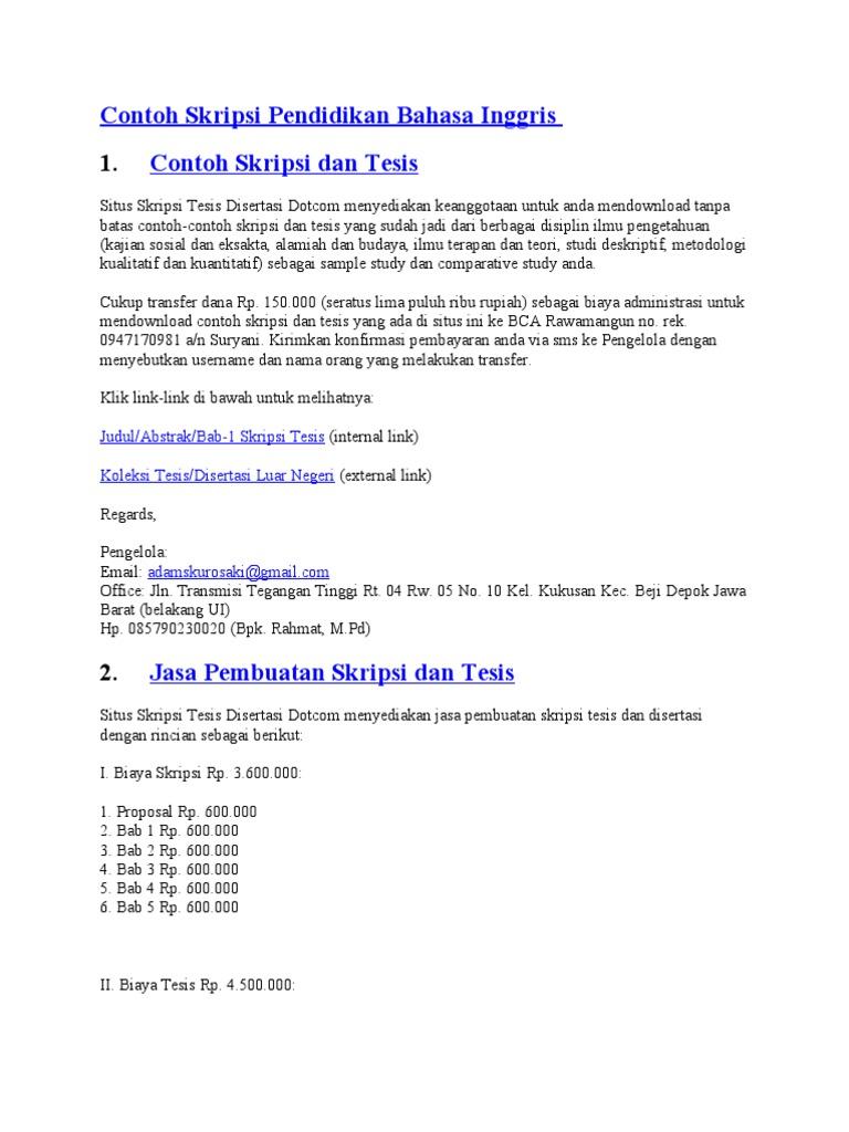 Contoh Bab 1 Skripsi Kualitatif Bahasa Inggris Jumpnohsa