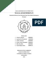 makalah Masalah Kemiskinan
