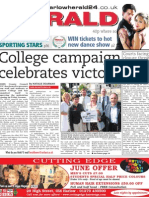 College campaign celebrates victory