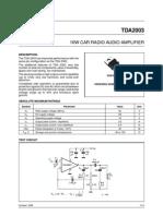 Amplificador 20W RMS TDA2003 Con Placa PCB