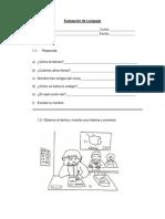 Evaluación informal de Lenguaje