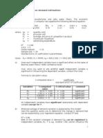 Practice Questions on Demand Estimation Latest