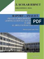 Raport Analiza Sem i an Scolar 2011-2012