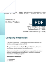 CASE STUDY – THE BARRY CORPORATION