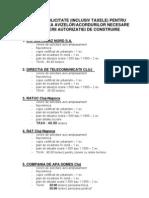 Acte Necesare Pentru Obtinerea Avizelor Sau Acordurilor Necesare Obtinerii Autorizatiei de Construire