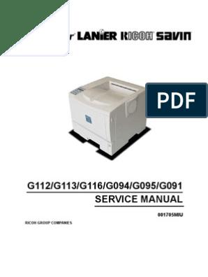 Ricoh Ap610 Service Manual | Battery (Electricity) | Printer