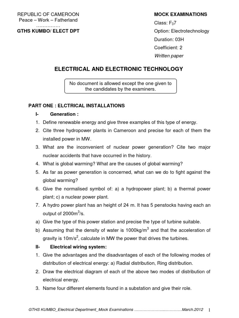 Electrical technology mock hydroelectricity power electronics biocorpaavc Gallery
