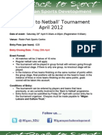 GM 'Back to Netball' Tournament April 2012