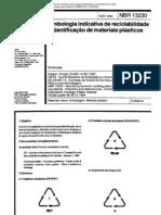 NBR 13230 - Simbologia Indicativa de Reciclabilidade e Identificacao de Materiais Plasticos