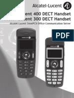 Alcatel-Lucent 300 400 Dect Manual Omnipcx Office