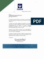 Mensaje Cámara de Comercio del Cauca
