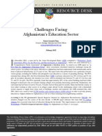 Challenges Facing Afghanistan's Education Sector