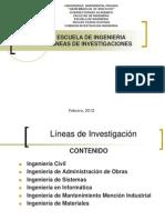 Ugma - Guayana_escuela Ingenieria_lineas Investigacion_2012