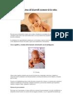 Las cuatro áreas del desarrollo sicomotor de los niños