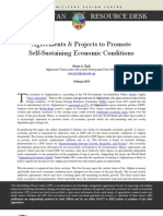 Agreements & Projects to Promote Self-Sustaining Economic Conditions