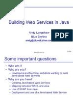 Java Web Services Slides 20011107