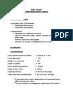 Ficha Tecnica Teatro-Municiapl de Temuco