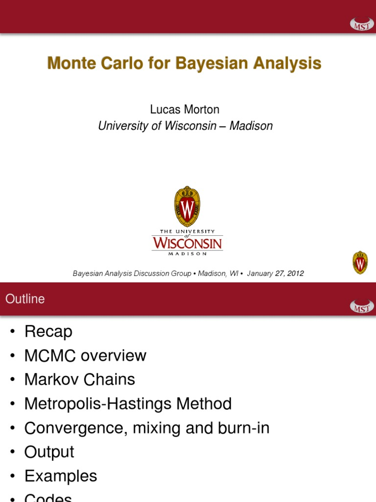 Monte Carlo for Bayesian Analysis | Physics & Mathematics | Mathematics