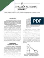 2003 Origen y Evolucion Del Termino Alcohol