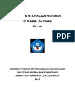 Panduan Pelaksanaan Penelitian Di Perguruan Tinggi Edisi VIII