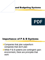 Planning and Budgeting Systems