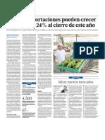 Negocio de agroexportación en Perú crecerán 24%