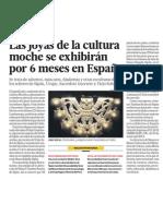 Patrimonio Cultural de Cultura Moche de Perú se exhibirá 6 meses en España