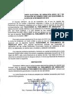 Resolución Junta Electoral sobre los sobres de votación autonómicas Andalucía