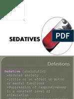 Sedatives Report