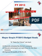 2013 Budget Overview