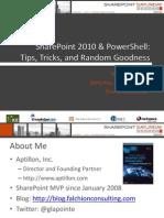 Share Point Power Shell Tips Tricks and Random Goodness