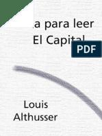 Althusser Louis - Guia Para Leer El Capital