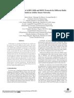 Performance Behavior of AODV, DSR and DSDV Protocols for Different Radio Models in Ad-Hoc Sensor Networks