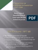 The Process of Industrialization in Pakistan